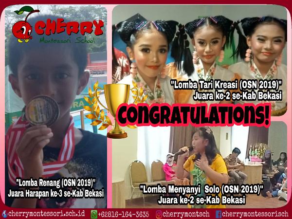 SD di Harapan Indah Bekasi Juara Lomba OSN 2019 se-Kabupaten Bekasi