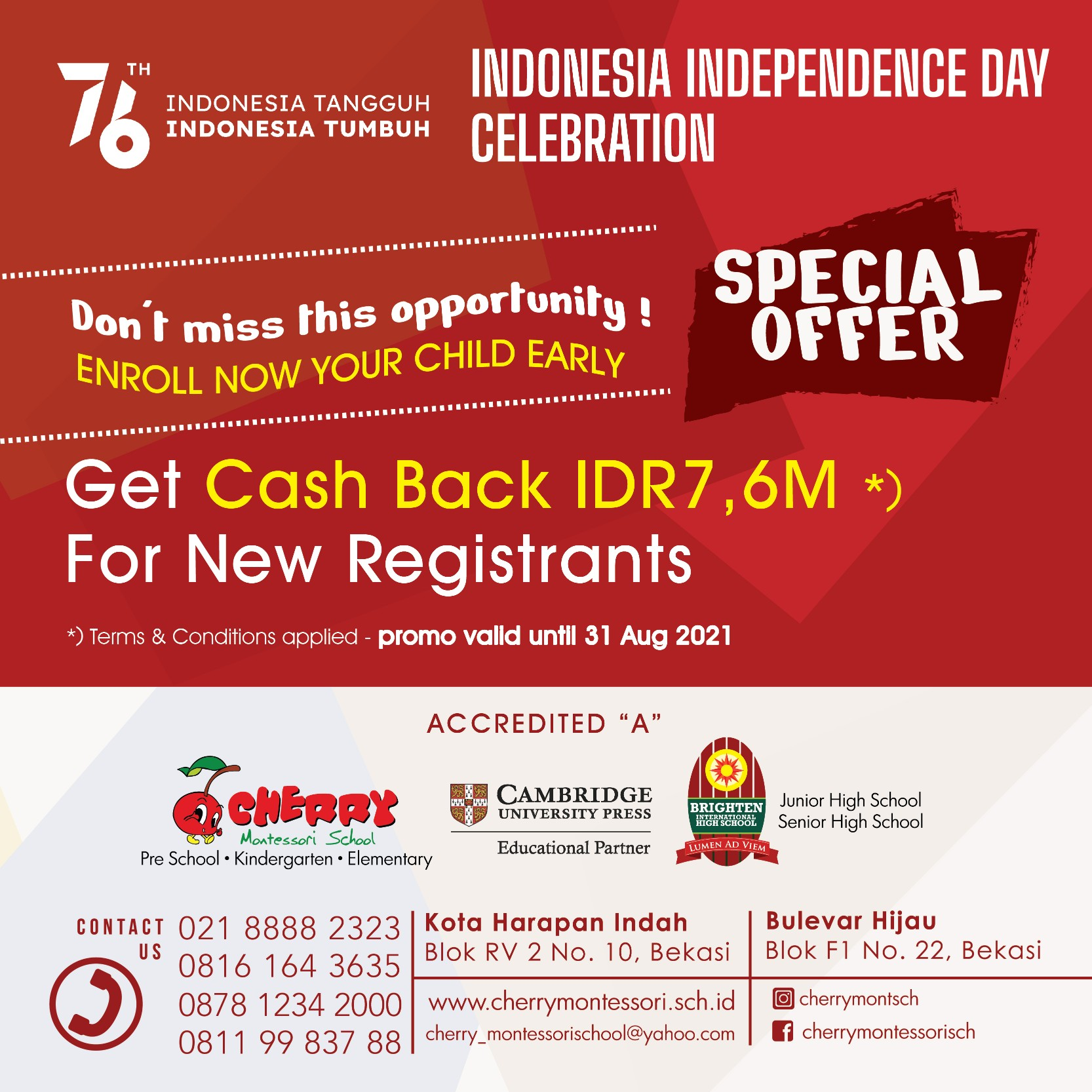Special Offer 17 Aug 2021
